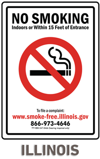 Illinois No Smoking Sign