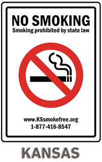 Kansas No Smoking Sign