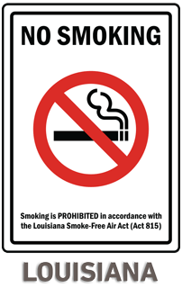 Louisiana No Smoking Sign