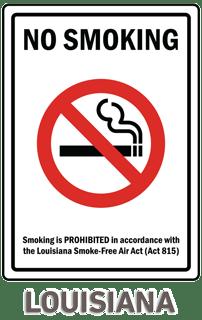 Louisiana No Smoking Sign