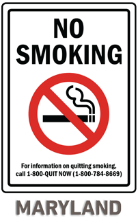 Maryland No Smoking Sign