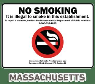 Massachusetts No Smoking Sign