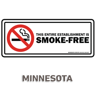 Minnesota No Smoking Sign