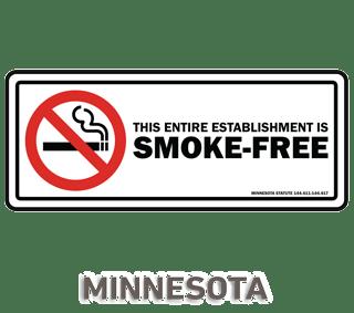 Minnesota No Smoking Sign
