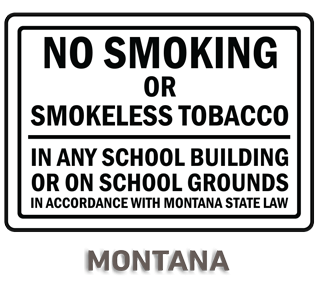 Montana No Smoking Sign