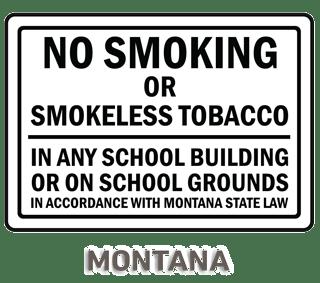 Montana No Smoking Sign