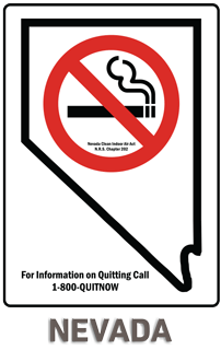 Nevada No Smoking Sign