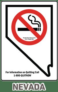 Nevada No Smoking Sign