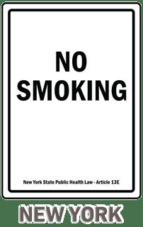 New York No Smoking Sign