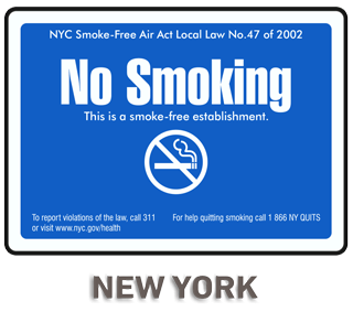 New York City No Smoking Sign