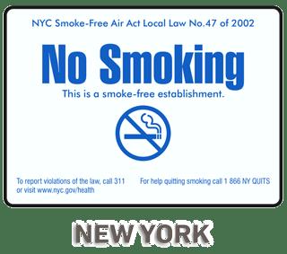 New York City No Smoking Sign