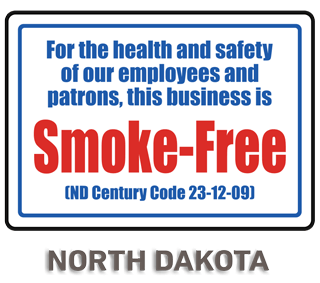 North Dakota No Smoking Sign