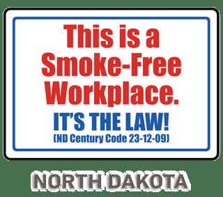 North Dakota No Smoking Sign