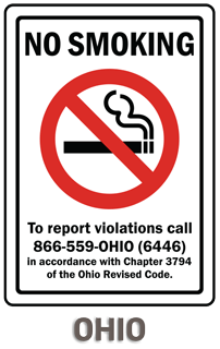 Ohio No Smoking Sign