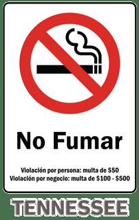 Tennessee No Smoking Sign
