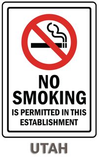 Utah No Smoking Sign
