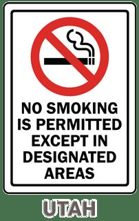Utah No Smoking Sign