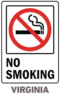 Virginia No Smoking Sign