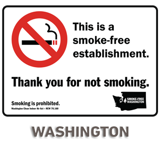 Washington No Smoking Sign