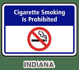 Indiana No Smoking Sign