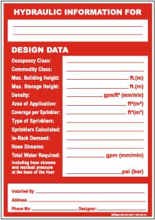 Hydraulic Information Design Data Sign