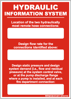Hydraulic Information System Sign