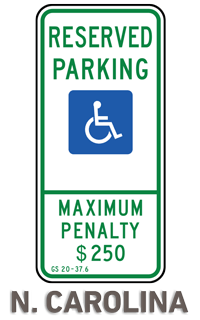 North Carolina Accessible Parking