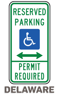 Delaware Accessible Parking Sign
