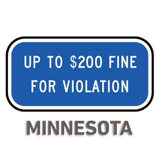 Minnesota Accessible Parking Penalty Sign