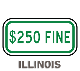 Illinois Accessible Parking Penalty Sign