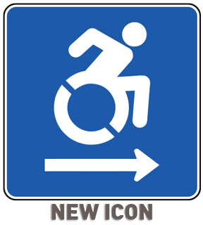 Accessible (Right Arrow) Sign