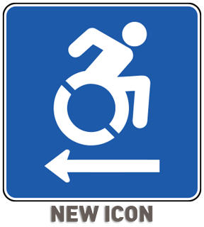 Accessible (Left Arrow) Sign