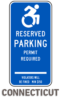 Connecticut Handicap Parking Sign