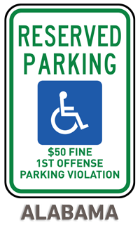 Alabama Accessible Parking Sign