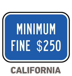 California Accessible Parking Penalty Sign