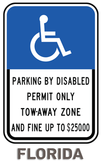 Florida Accessible Parking Sign