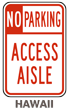 Hawaii Accessible Parking Sign