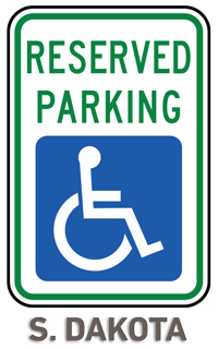 South Dakota Accessible Parking Sign