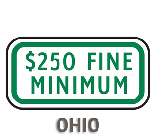 Ohio $250 Fine Minimum Sign
