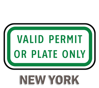 New York Accessible Parking Sign