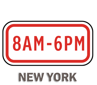 8AM - 6PM Sign
