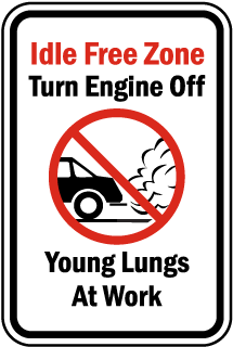 Idle Free Zone Turn Off Engine Sign
