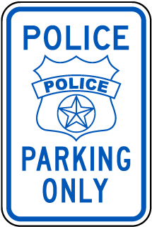 Police Parking Only Sign