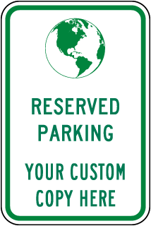 Custom Green Vehicles Only Sign