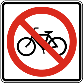 No Bicycles Sign