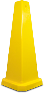 Yellow Wet Floor Cone