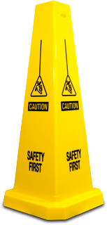 Caution Safety First Floor Cone
