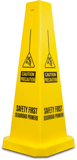 Bilingual Safety First Floor Cone