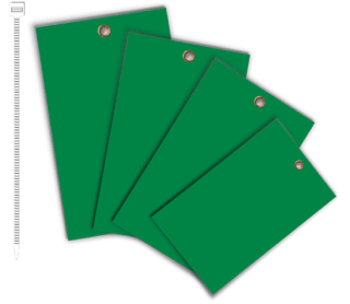 Green Write-On Vinyl Tag