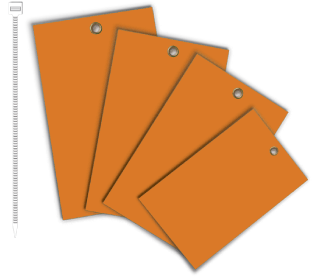Orange Write-On Vinyl Tag